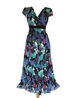 Per Una Floral Tea Dress, Chiffon Summer Dress, Holiday Wedding Guest Dress, 12