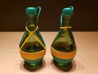 Vintage Chianti Bottles Salt and Pepper Shakers Made in Italy