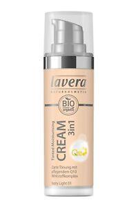 Lavera Tinted Moisturising Cream 3 in 1 Q10 - Ivory Light 01 - 30ml -Reduced