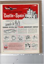 1961 DIAMOND CRYSTAL SALT $75,000 ANNIVERSARY CONTEST PAN AMERICAN AD PRINT F248