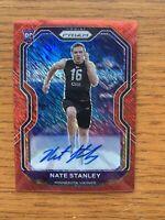 2020 Panini Prizm Nate Stanley Auto Red Shimmer /35 Rookie Minnesota Vikings