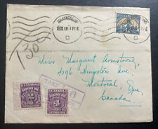 1948 Johannesburg South Africa Postage Due Cover To Montreal Canada