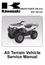 Kawasaki 2005 2006 2007 Brute Force 750 4x4i KVF750 4x4 service manual in binder