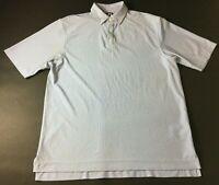 Footjoy Golf Mens Blue White Striped Short Sleeve Polo Shirt Size XL