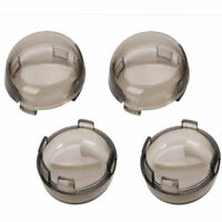 4x Smoke Lens Turn Signal Light Cover For Harley Dyna Sportster Electra Glide JH