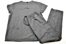 Bannock Court Women Black Short Sleeve T-Shirt Pull On Pant 2-Piece Scrub Set M