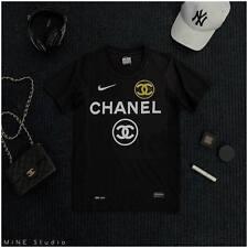 """Nike x Chanel DRI-FIT Rare 44-45"""" Size (L-XL) Football Jersey Soccer Top L: 28"""""""