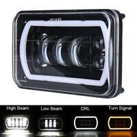 "4x6"" Cree LED Headlight Hi-Lo Beam DRL Turn Single Lamp For Ford Jeep Wrangler"