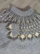 womens SAMBAD mohair ICELAND wool sweater MEDIUM icelandic handknit