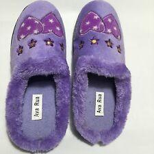 Ladies Fur slip on Slippers BNIB Uk Size 4 Purple Colour Beautiful and Cosy