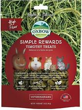 (8 Pack) Oxbow SIMPLE REWARDS Treats - Small Animals TIMOTHY 1.4 oz
