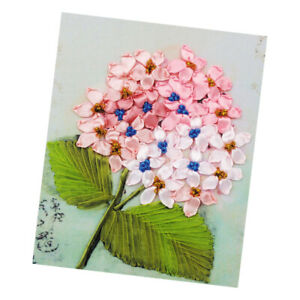 1x Stamped Cross Stitch Kits Flower Pattern Embroidery Home Wall Decoration