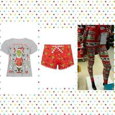 Primark Ladies The Grinch Christmas Edition Short/Leggings/Tshirt PJs Nightwear