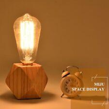 Modern Wood Table Lamp Desk Light Bedside E27 Bulb Bedroom Night Decor