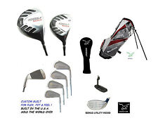 SENIOR AGXGOLF EXEC SERIES GOLF SET DRIVER+3WD+UTILITY WD+IRONS+STAND BAG+PUTTER