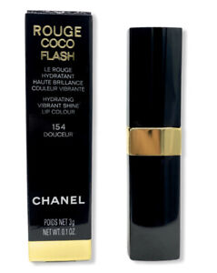 CHANEL ROUGE COCO FLASH Hydrating Lip Colour 154 DOUCEUR 3g/.1oz New in Box