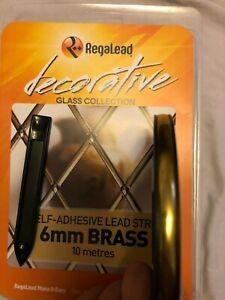 Regalead 6mm Brass Lead Craft Pack 10 metres, window leading kit