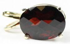 Mozambique Garnet, 14KY Gold Pendant, P006