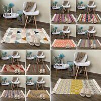 Indoor Teppich Waschbar Moderne Läufer Vintage Teppiche Quaste Bordüre Dekor