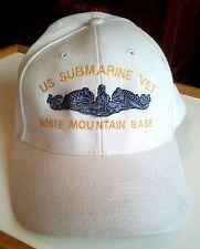 Submarine Vet White Mountain Base ball cap hat