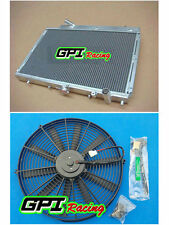 aluminum radiator for Mazda 323 GTX GTR FORD TX3 familia Protegé 1989-1994 & FAN