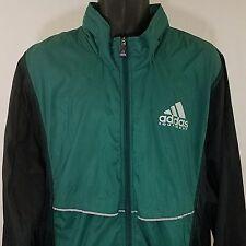 Adidas Equipment Windbreaker Jacket Vintage 90s Full Zip Roll Up Hood Large