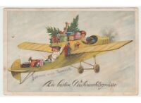 Antique Card Santa Claus Air Toys Supplies Boy D'Epoca Weihnachten