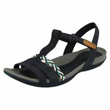 566f6b6c4773 Clarks Tealite Grace Women s Open Toe Sandals Blue Navy 7 UK 41 EU