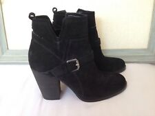 8d2214a8752 New Ivanka Trump  Frankly  Belted Suede Bootie Ankle Boots Size 5 Black