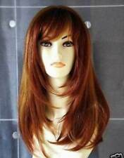 ZWSW73 long copper red mix style straight natural Hair Wigs for modern women