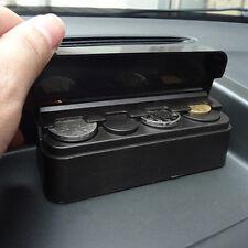 Black Car Coin Case Organizer Storage Mini Box Plastic Holder Auto Accessories