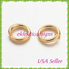 6mm 18gauge 100pcs BRASS Gold Plated Open Jump Rings Findings Earrings Necklace