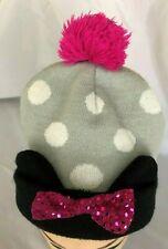 Disney - Black Gray Pink Minnie Mouse Knit Stocking Cap Hat