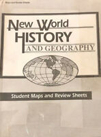 Abeka Grade 6 New World History & Geography Student Maps & Review Sheets