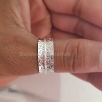 Spinner Ring Solid 925 Sterling Silver Band & Handmade Jewelry All Size p-04