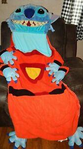 Disney Store Lilo & Stitch Alien Stitch Sleeping Bag, Pillow Rolls to Plush RARE