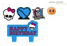 Monster High Mini Molded Candles 4 Piece Cake Party Supplies FREE DELIVERY
