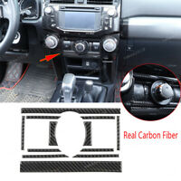 Real Carbon Fiber Central Air Condition Vent Cover For Toyota 4Runner 2010-2020