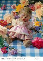 Ansichtskarte  Mecki (Diehl-Film): Herzlichen Glückwunsch Blumen 1970