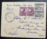 1939 Botwood Newfoundland First Flight Cover FFC to London England Imperial Airw