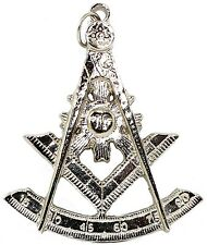 Past Master Silver Tone Jewel For Masonic Collar Regalia Freemasons Pendent $19