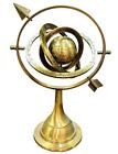 Brass Celestial Globe Armillary Globe Showpiece, Brass Armillary Sphere Decor