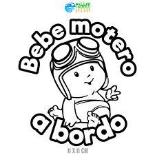 Pegatinas Bebè Bebe motero a bordo sticker vinilo coche moto niño