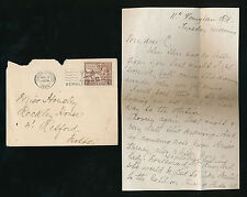GB 1924 WEMBLEY EXHIBITION CANCEL on 1 1/2d + LETTER HARROW to RETFORD HOUSLEY