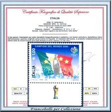 Italia Campioni Mondo 2006 Varietà 8 stelle Certificato Campionato Calcio ** B