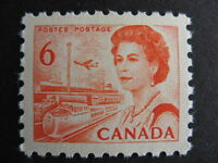 CANADA 459ii MNH 6c orange Centennial with Fluorescent ink! Nice stamp!