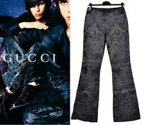 S/S 2000 NEW GUCCI by TOM FORD EMBROIDERED LEATHER PANTS from the AD CAMPAGN