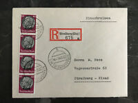 1941 Strassburg Germany Cover To Alscace