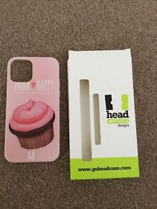 """HEAD CASE DESIGNS CUPCAKE """"THINK HAPPY"""" SOFT GEL CASE FOR APPLE IPHONE 12"""