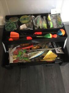 pike fishing joblot lures spinners box pike/perch/predator fishing tackle